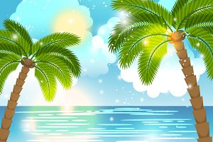 Sea view background