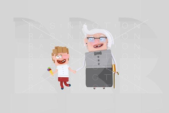 3d illustration. Grandmother. - Illustrations