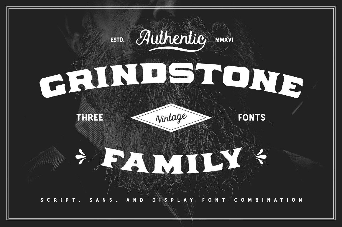 Grindstone Font Family Display Fonts Creative Market