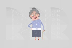 3d illustration. Grandmother.