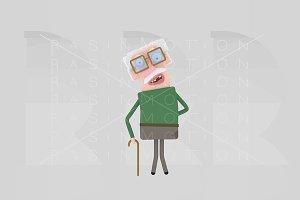 3d illustration. Old man.