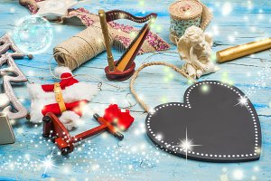 Christmas greeting card. Copyspace