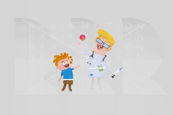 3d illustration. Happy doctor. - Illustrations