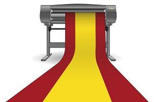 Plotter printing spain flag