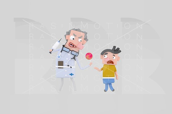3d illustration. Angry doctor. - Illustrations