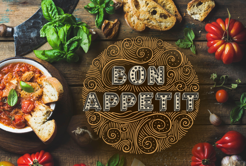 Bon Appetit Font Script Fonts Creative Market