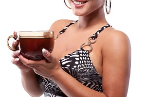 tea and beauty woman