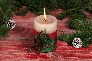 Burning Candle for Xmas