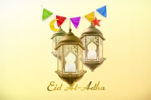 Muslim holiday Eid Al-Adha, vector