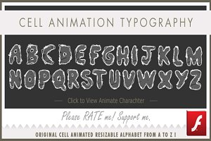 A to Z Font-animations for Christmas