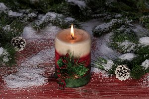 Holiday Burning Candle