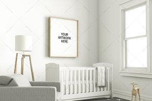 Nursery Frame Mockup Interior