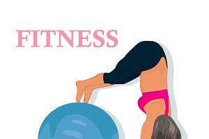 fitness, woman exercising