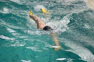 swimmer swimming water pool stroke