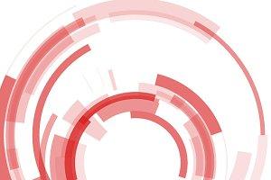 Circular cyber vector background