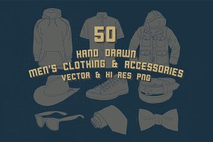 Hand Drawn Men Clothing Vector Pack