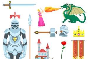 Heraldic knight symbols vector
