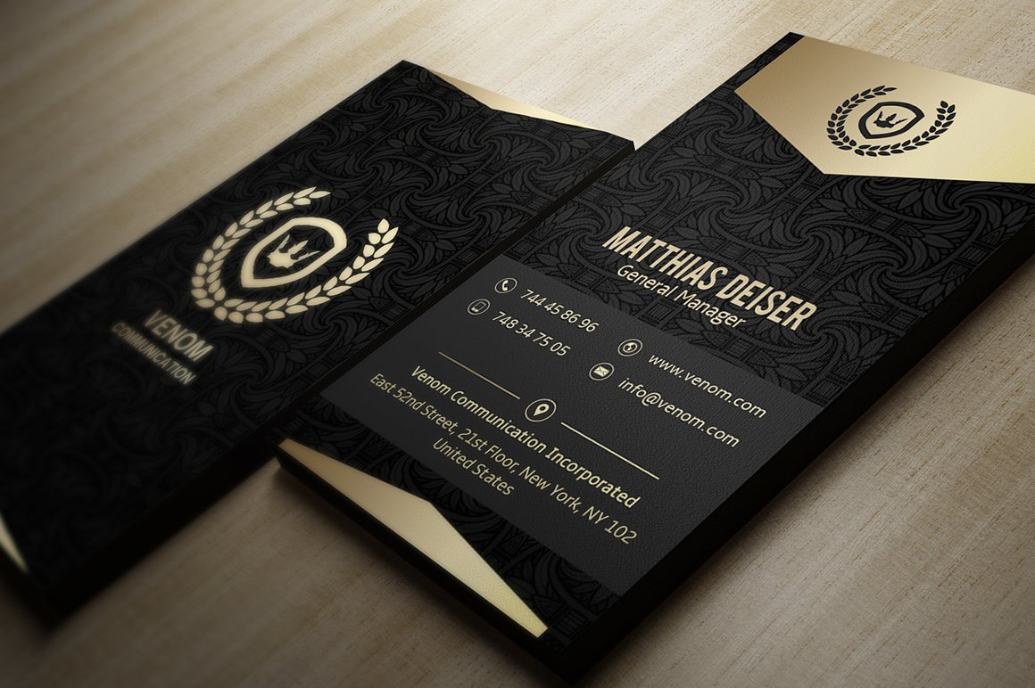 Gold And Black Business Card Business Card Templates