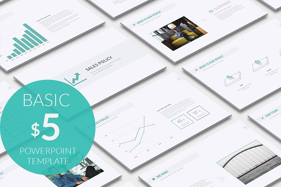 Basic Powerpoint Template Presentation Templates Creative Market