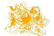 Abstract splash yellow color