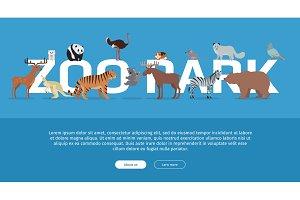 Zoo Park Banner. Website Template