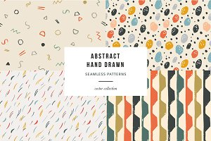 Abstract hand drawn patterns