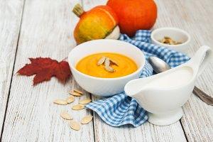 Pumpkins soup