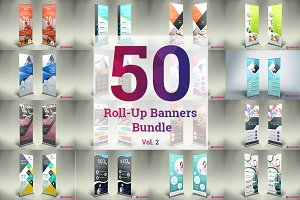 50 Roll up Banner Bundle