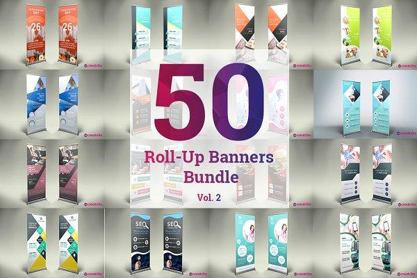 50 Roll up Banner Bundle