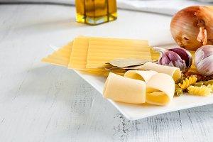 Italian food with pasta