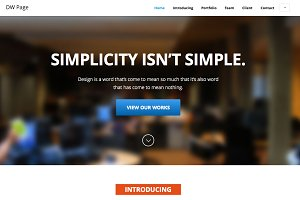 DW One Page Modern - HTML Template