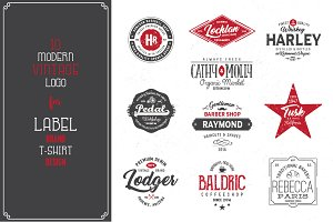 10 Vintage Logo Templates