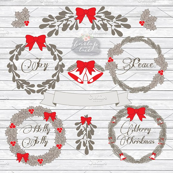 Christmas rustic. Clipart