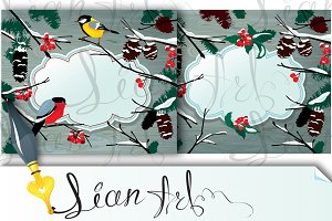 2 Winter horizontal cards