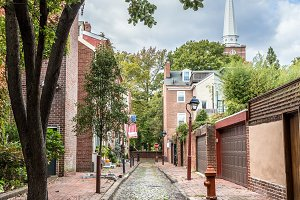 Cobblestone Street in Philly