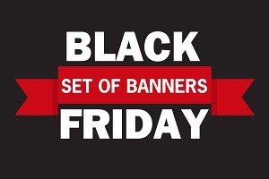 Black Friday discount vector banner