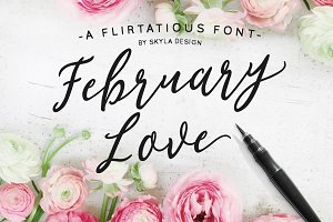 Flirty font, February Love