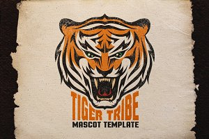 Tiger Mascot Template