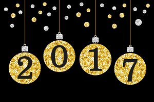 Cute Happy New Year banner