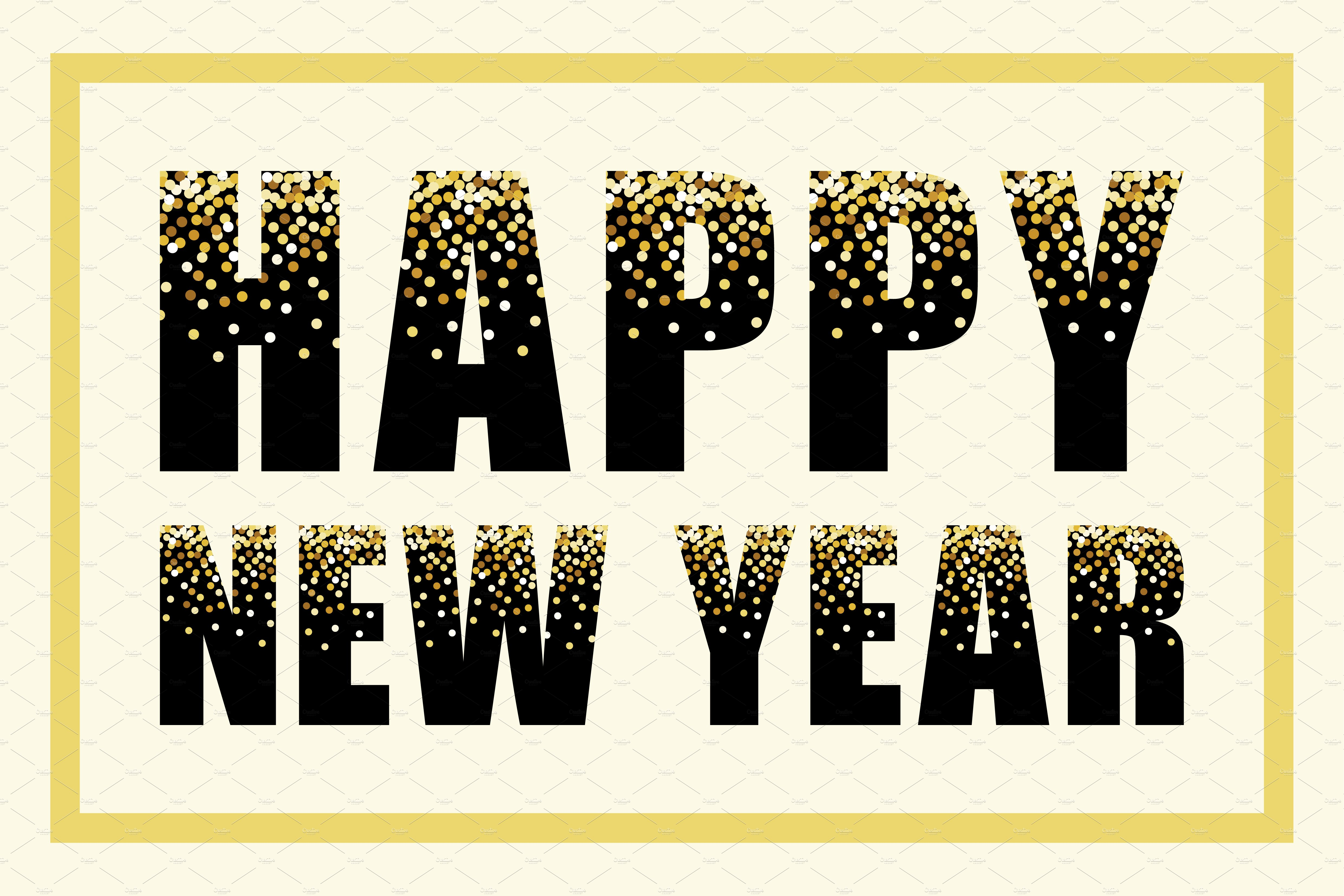 glamour happy new year banner illustrations creative market