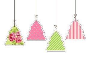 Cute vintage Christmas tree card