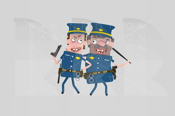 3d illustration. Policeman. - Illustrations