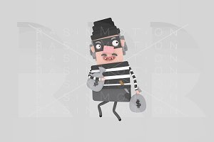 3d illustration. Thief.