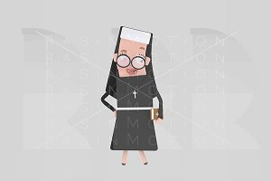 3d illustration. Nun.