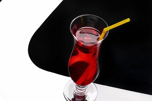 Red stylish cocktail