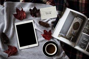 Moodboard with iPad 1 - photo