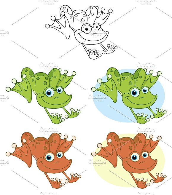 Frog Hopping. Collection - Illustrations