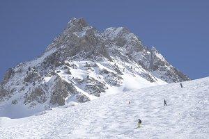 Ski resort photography