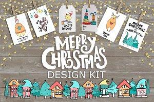 Merry Christmas kit + lettering.