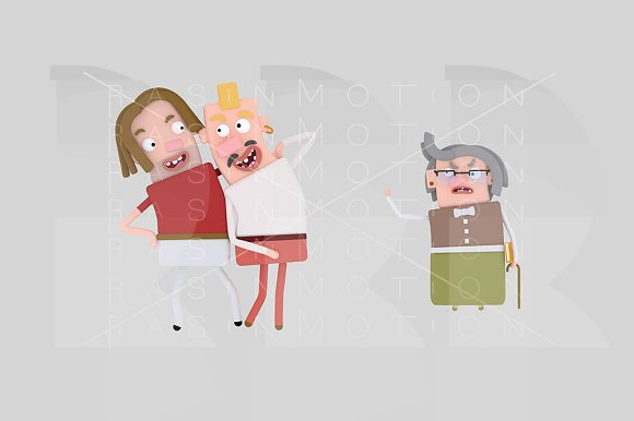 3d illustration. Gays Couple. - Illustrations